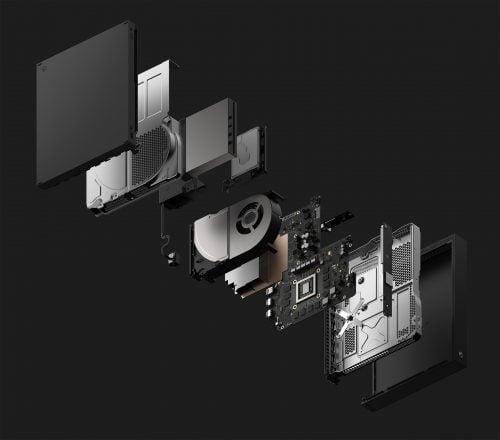 xbox one x console модель в разборе
