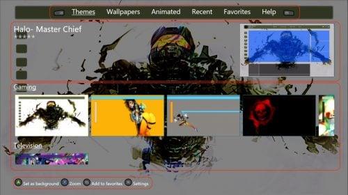 Скриншот программы «Theme my Xbox» для смены обоев
