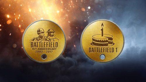 Медали на день рождения Battlefield