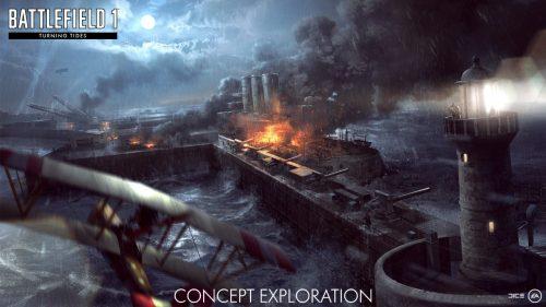 Морские сражения в DLC «Волны перемен» battlefield 1