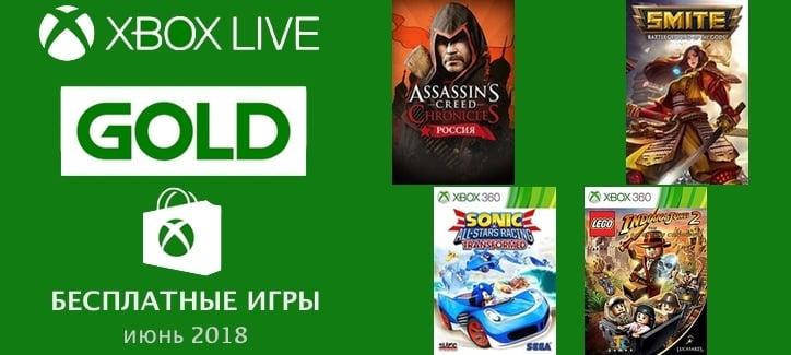 Бесплатные GOLD игры для Xbox на июнь 2018