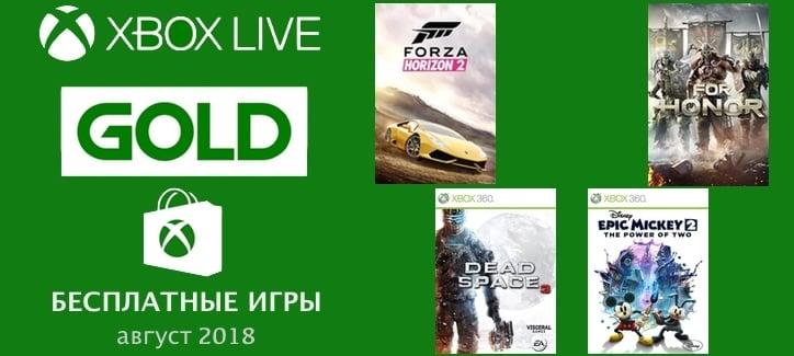 Бесплатные GOLD игры для Xbox на август 2018