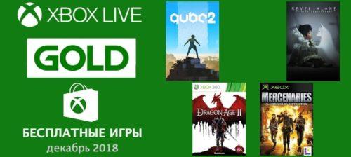 Бесплатные игры для Xbox GOLD на декабрь 2018